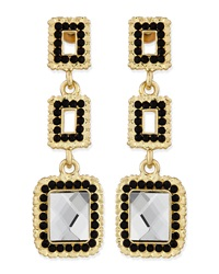Greenbeads By Emily And Ashley Square Crystal Cutout Drop Earrings