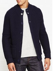 Whistles Chunky Knit Cardigan Navy