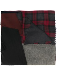 Golden Goose Deluxe Brand Patchwork Scarf Multicolour
