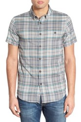 Element Regular Fit Plaid Woven Shirt Gray