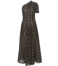 Stella Mccartney Asymmetrical Cotton Blend Lace Dress Black