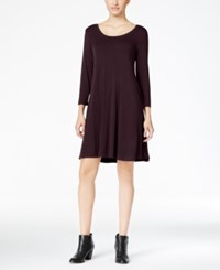 Styleandco. Style Co. Petite Swing Dress Only At Macy's Dried Plum