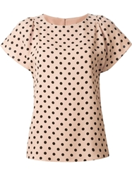Red Valentino Polka Dot Top Pink And Purple