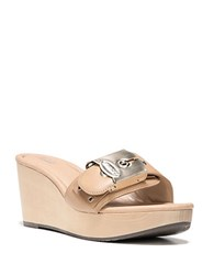 Dr. Scholl's Original Collection Leather Enya Wedge Sandals Tan