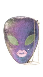 Charlotte Olympia Alienora Cross Body Bag Amethyst Green Quartz Rose