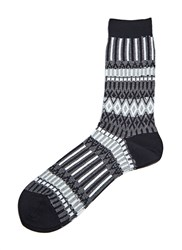 Ayame C53 Ichi Stripe Socks Black