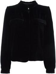Giorgio Armani Stand Up Collar Blazer Black