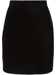 Thierry Mugler Vintage Velvet Mini Skirt Black