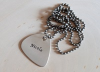 Guitar Pick Necklace Handmade From Aluminum For By Nicilaskin