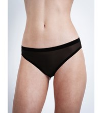 Wolford Tulle Tanga Briefs Black