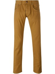 Etro Slim Fit Trousers Brown