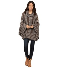 Scully Honey Creek Arianna Poncho Sweater Brown Women's Sweater