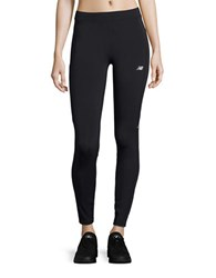 New Balance Fitted Athletic Pants Black