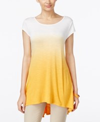 Joseph A Ombre Swing High Low Tunic Cadmium Yellow