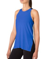 Mpg Elastic Strap Relaxed Fit Tank Top Cobalt