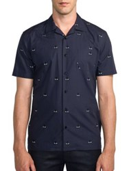 Fendi Monster Print Sportshirt Blue