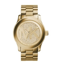 Michael Kors Runway Logo Rose Gold Tone Watch