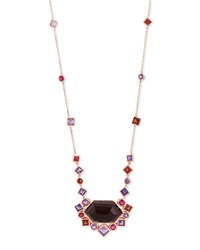 Gold Struck Garnet Ruby And Amethyst Pendant Necklace Stephen Webster Red