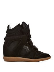 Isabel Marant Etoile Beckett High Top Suede Wedge Trainers