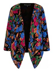 Mela Loves London Floral Print Kimono Jacket Multi Coloured