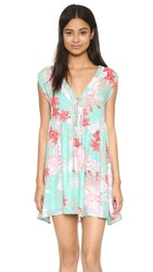 Minkpink Backyard Bliss Dress Multi Mint