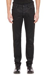 John Varvatos Men's Coated Skinny Jeans Black