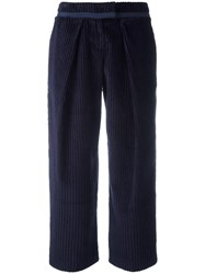 Cacharel Corduroy Peg Trousers Blue