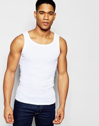 Solid Ribbed Tank White