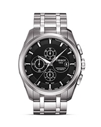 Tissot Couturier Men's Black Automatic Stainless Steel Watch 43Mm No Color