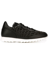 Alexander Mcqueen Cut Out Detail Sneakers Black