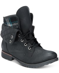 Ziginy Rock And Candy Spraypaint Combat Booties Women's Shoes Black