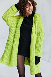 Silence And Noise Ally Neon Chunky Cardigan Yellow