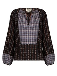 Ace And Jig Riley Woven Cotton Top Black Multi