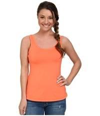 Columbia Saturday Trail Knit Tank Top Coral Flame Women's Sleeveless Orange