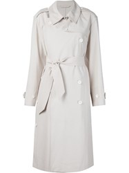 Christophe Lemaire Lemaire Belted Trench Coat Nude And Neutrals