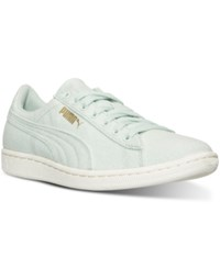 Puma Women's Vikky Canvas Casual Sneakers From Finish Line Green Lily