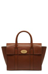 Mulberry 'Small Bayswater' Leather Satchel Brown Oak
