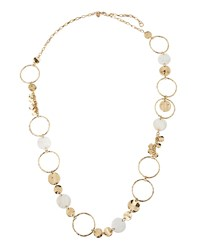 Lydell Nyc Long Golden Iridescent Disc Link Necklace Women's