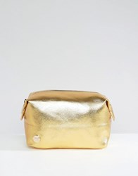 Mi Pac Gold Tumbled Make Up Bag Gold