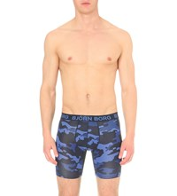 Bjorn Borg Active Camouflage Trunks Peacoat