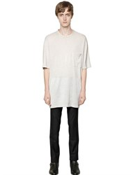 Lanvin Fluid Washed Cotton And Rayon T Shirt