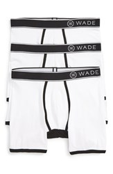 Naked Men's 'Wade' Stretch Cotton Boxer Briefs White