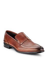 Bruno Magli Maize Leather Loafers Cognac