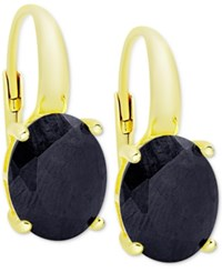Victoria Townsend Sapphire Drop Earrings 6 Ct. T.W. In 18K Gold Plated Sterling Silver