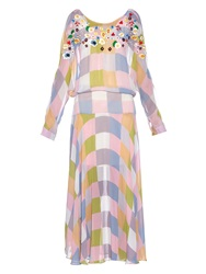 Preen Line Norma Checked Georgette Dress