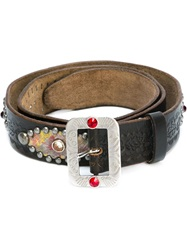 Dsquared2 Studded Embossed Belt Brown