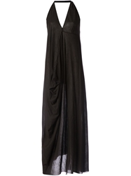 Lost And Found Draped Halter Neck Dress Black
