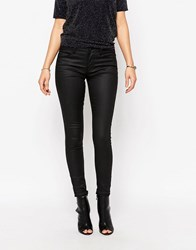 Only Ultimate Coated Black Skinny Jeans Only Ultimate Coated