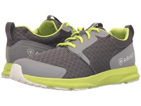 Ariat Fuse Charcoal Mesh Neon Green Men's Lace Up Casual Shoes Black