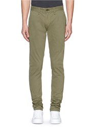 Rag And Bone 'Fit 2' Brushed Cotton Twill Chinos Green